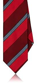 DolcePunta DOLCEPUNTA MEN'S WIDE-STRIPED SILK NECKTIE-RED