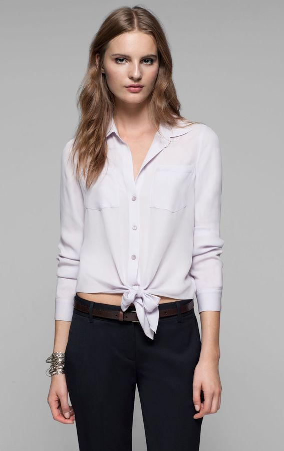 Theory Orencia Shirt in Double Georgette Silk