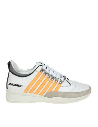 DSQUARED2 Sneakers Laced Up 251 In White Leather