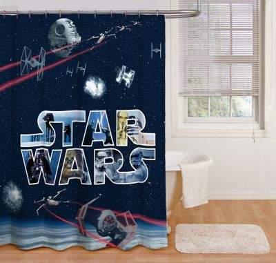 Star WarsTM Space Battle 72-Inch Shower Curtain