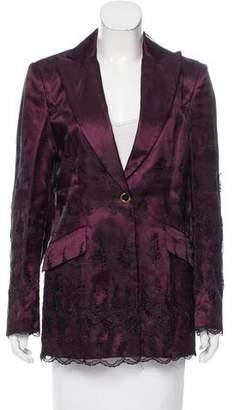 e84de5de Pre-Owned at TheRealReal · MCM Semi-Sheer Embroidered Blazer