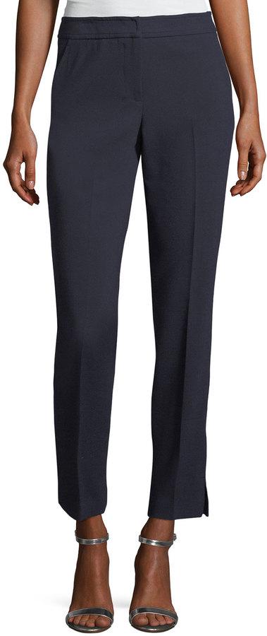 Trina Turk Superb Straight-Leg Ankle Pants
