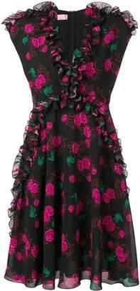 Giamba rose print dress