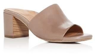 Kenneth Cole Gentle Souls by Gentle Souls Women's Chantel Leather Block Heel Slide Sandals