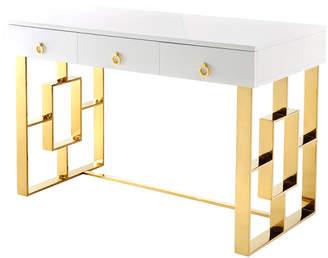 Tov Audrey White Lacquer Desk