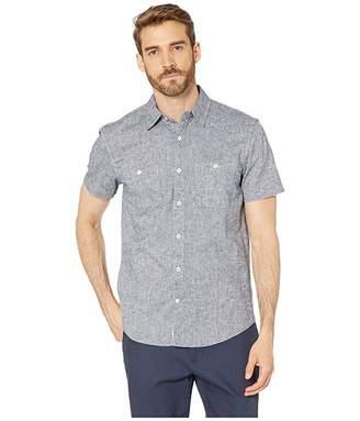 Lucky Brand Short Sleeve Linen Chambray Shirt