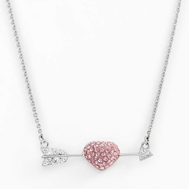 Amore By Simone I. Smith AMORE by SIMONE I. SMITH Platinum Over Silver Crystal Cupid's Arrow Necklace