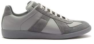 Maison Margiela Replica Low Top Leather Trainers - Mens - Light Grey