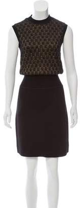 Louis Vuitton Sleeveless Contrasted Dress w/ Tags