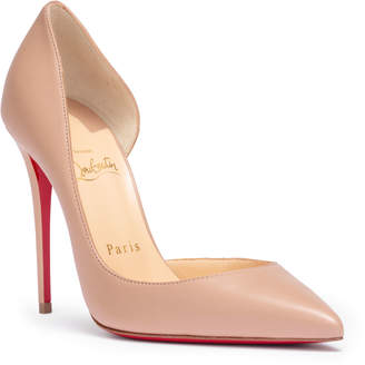 Christian Louboutin Iriza 100 beige leather pumps