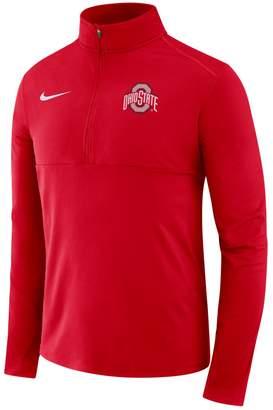 Nike Men's Ohio State Buckeyes Element 1/2-Zip Pullover Top