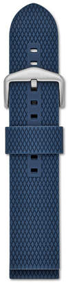 Fossil 22mm Blue Silicone Watch Strap