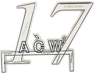 A-Cold-Wall* 17 Logo brooch