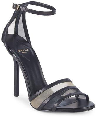 Aperlaï Metalli Leather Sandal