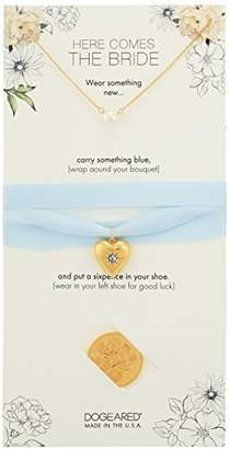 Dogeared Here Comes The Bride Small Pearl Necklace