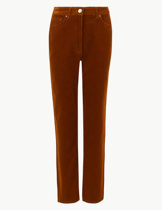 Marks and Spencer Straight Leg Ankle Grazer Trousers