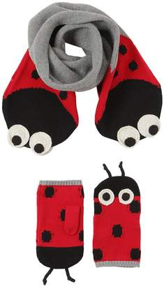 Stella McCartney Ladybugs Cotton Blend Scarf & Mittens