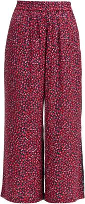 French Connection Aubine Drape Printed Trousers