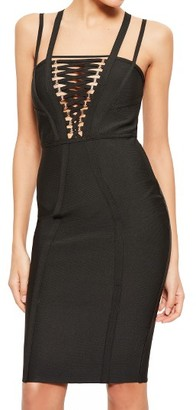Women's Missguided Lace-Up Bodice Body-Con Dress $103 thestylecure.com