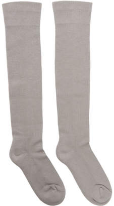 Rick Owens Taupe Larry Knee-High Socks