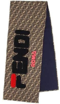 Fendi MANIA wool and silk scarf