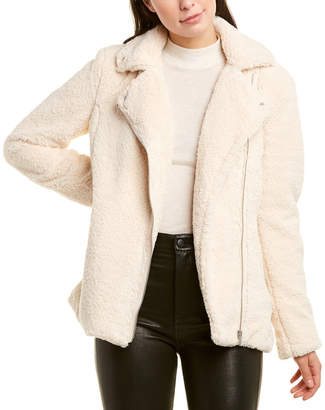 Bagatelle Collection Teddy Sherpa Biker Jacket