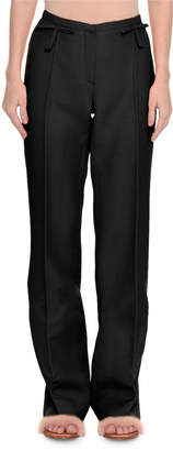 Valentino Crepe Couture Bow-Waist Pants