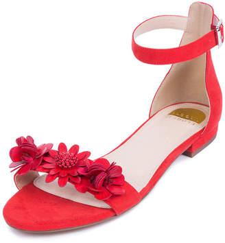 ELOQUII Darcy Floral Ankle Strap Sandal