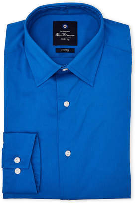 Ben Sherman Blue Tailoring Stretch Dress Shirt