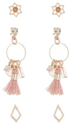 Melrose and Market Tassel Stud Earrings - Set of 3