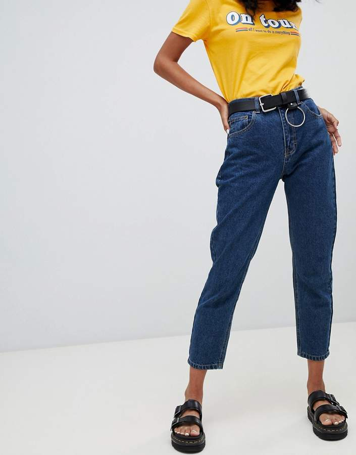classic mom jean in dark blue