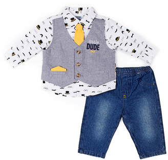 3c980bef78f2 Little Lass 3-pc. Little Dude Mock Set-Baby Boy