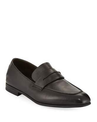 Ermenegildo Zegna Men's Lasola Soft Burnished Leather Penny Loafers