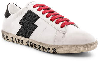 Amiri Glitter Leather Viper Sneakers