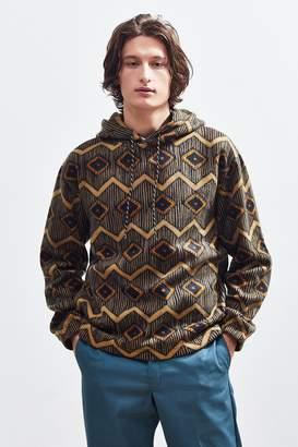 Urban Outfitters Patterned Polar Fleece Hoodie Sweatshirt