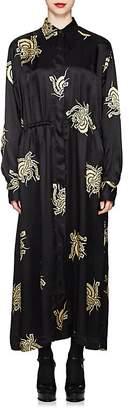 Dries Van Noten Women's Floral Twill Shirtdress