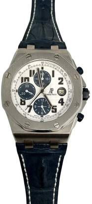 Audemars Piguet Royal Oak Offshore Chronograph Navy Model Stainless Steel & Alligator 42mm Watch