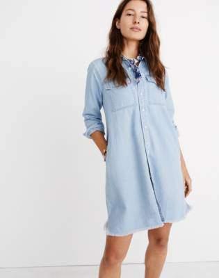 995ad307a4 Madewell Denim Raw-Hem Shirtdress