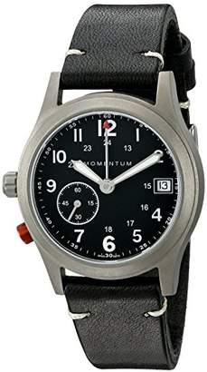 Momentum Unisex 1M-SP61B2B Pathfinder III Analog Display Swiss Quartz Black Watch