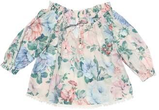 Zimmermann Kids Verity floral cotton top