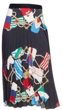 Sandro Gabriella Pleated Midi Skirt