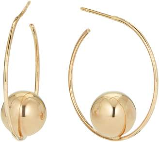 Lana Hollow Ball Small Hoop Earrings
