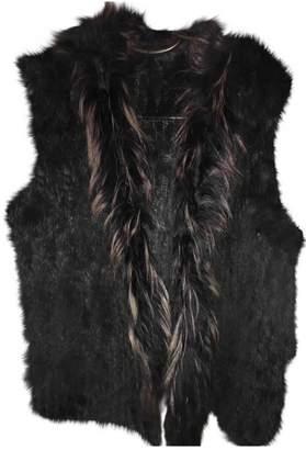 Berenice Navy Rabbit Jacket for Women