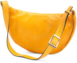 Made In Italy Half Moon Leather Belt Bag