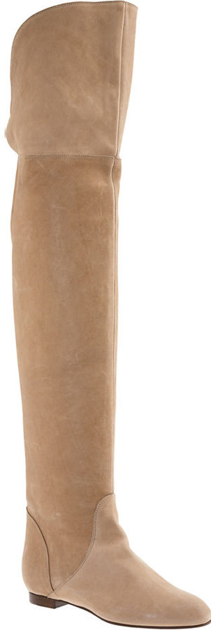 Chloe Over-the-Knee Boot - Nude