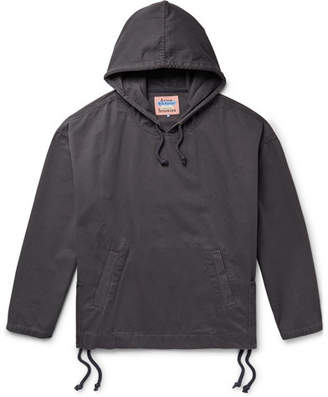 Acne Studios Flanck Lace-Up Cotton-Twill Hoodie