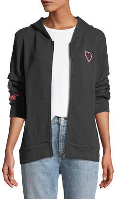 Chaser Peace Love Tiger Zip-Up Hoodie