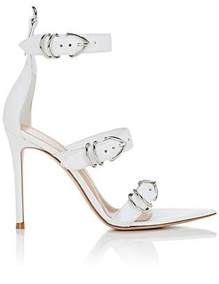 Gianvito Rossi Women's Leather Ankle-Strap Sandals - White