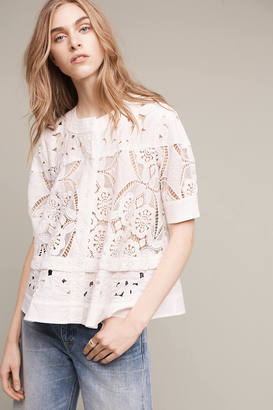 Maeve Eyelet Swing Top $158 thestylecure.com