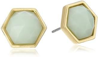 "Trina Turk Basics"" Stone Hexagon Stud Earrings"